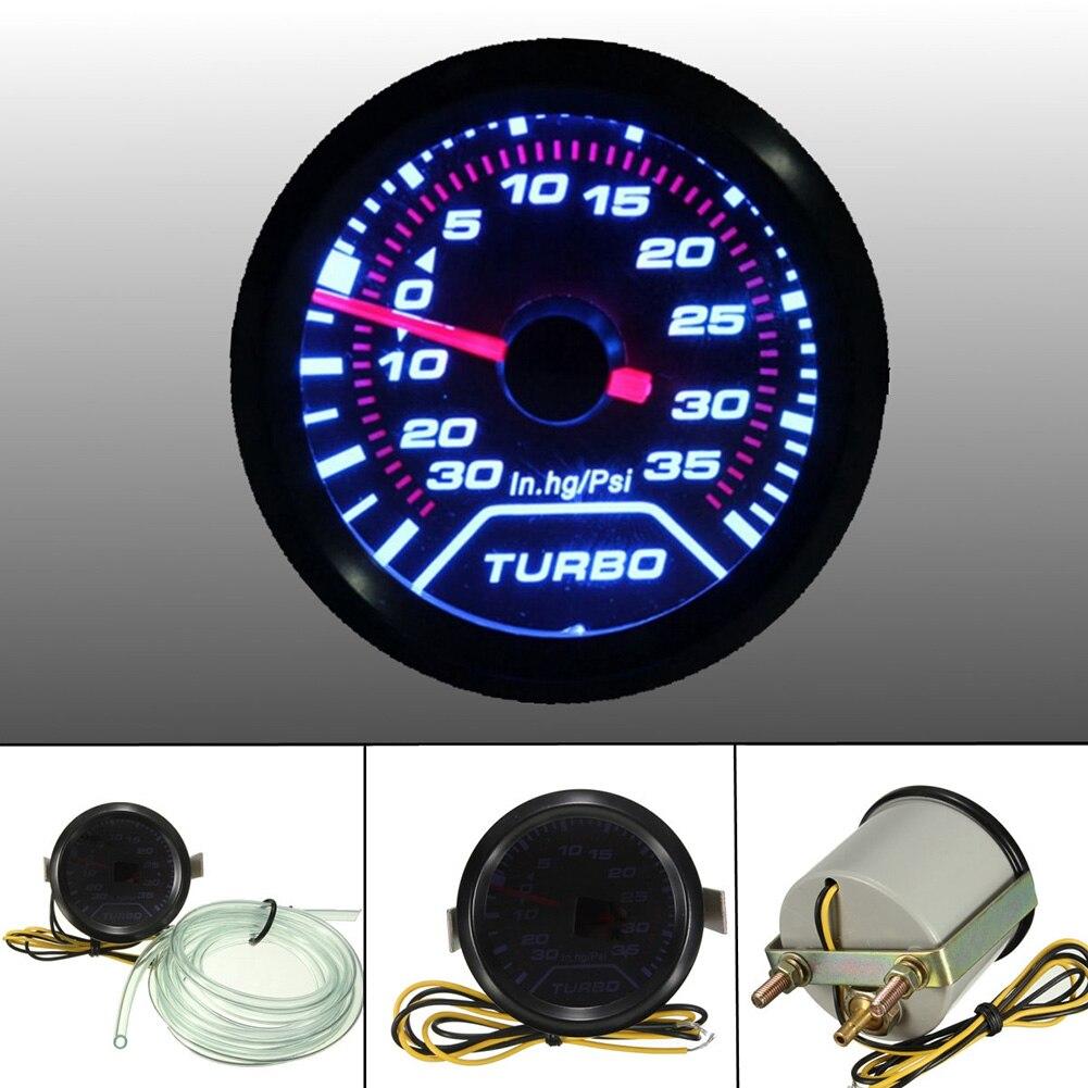 Supercharger Kit Digital BOOST Gauge BLUE LED *PSI* Universal Fit for Turbo