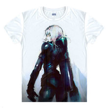 Blame! T-Shirt main character Shirt colorful T shirts Anime Accessories shirt Print Womens T-Shirts Cosplay Anime cute t-shirt a
