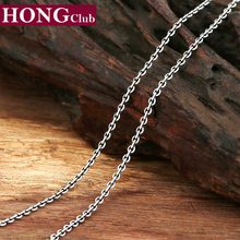 Buy 2017 New Necklace 100% Real 925 Sterling Thai Silver jewelry Necklace Pendant Men Women Jewelry 2mm Chain Chocker Necklace GN1 for $10.39 in AliExpress store