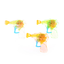 Random Color Shining Bubble Gun Shooter Blower Outdoor Kids Child Toys(China)