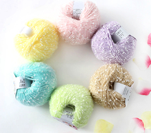 4 Pcs Mimi Lotus Yarns Fancy Cotton Yarn for Hand Knitting Crochet Thread Diy Weave Skein Knitting Tape Yarn For Scarf Sweater(China)
