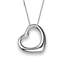 925 Sterling Silver Heart Love Pendant & 45cm 925 Sterling Silver Necklace Chain Brand Silver Jewelry 2017 New Valentine Gift