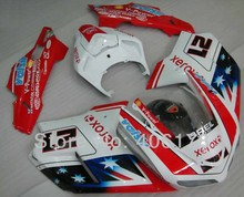 Hot Sales,Customized ABS Fairing Kit For Ducati 1098 848 1198 2007-2011 XEROX Flag Body Motorcycle Fairings (Injection molding)(China)