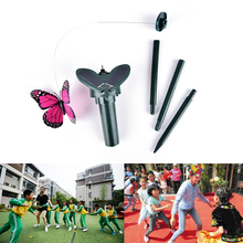Ornaments Vibration Solar Powered Dancing Flying Butterfly Garden Wall Yard Decoration(China)