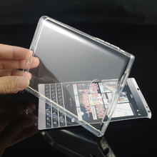 CASEISHERE Soft Transparent TPU Gel Cover Case Skin For Blackberry Passport Silver Edition(China)