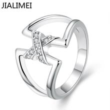wholesale jewellery korean NEW designer 925 silver anel feminino zirconia synthetic gemstone rings R687-8