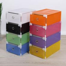 5PCS/set Eco-Friendly Shoe Storage Box Case Transparent Plastic Storage Box Rectangle PP Shoe Organizer Thickened drawer ShoeBox