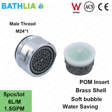 M24 Male Thread Kitchen Basin Faucet Aerator Water Saver Soft Bubble Faucet Spout Aerator 1.5GPM Tap Nozzle Spray Aerator(China)