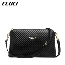 CLUCI Women's Crossbody Bag Cow Genuine Leather Black Pink Yellow Ladies Evening Bags Shoulder Bags for Women Leather Hand Bag(China)