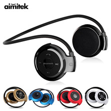 Buy Mini-503 Sport Wireless Bluetooth Headphones Stereo Earphones MP3 Music Player Headset Earpiece Micro SD Card Slot FM Radio Mic for $9.99 in AliExpress store