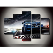 HD Print 5pcs BMW Car Style canvas painting modern home decor wall art poster picture for children room wall decor art /PT1259(China)