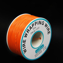EziUsin Welding cable PCB Jumper Circuit Board 0.25mm Wire-Wrapping Electronic Wire 30AWG Cable 250m Orange(China)