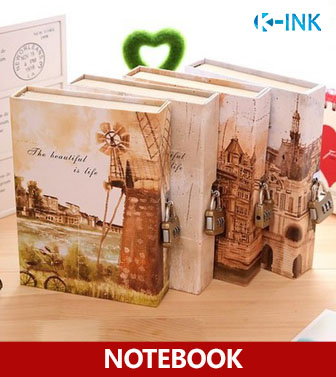 A5 Hardcover Lock Notebook ,  Vintage Building Business Notebook with Passwords as Diary Book for Daily Memo , Notepads<br><br>Aliexpress