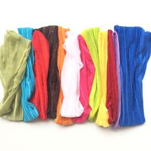 "12pcs 7"" Wide Silk Headband With Elastic Hair Band For Women Girls Assorted 12 Colors Headbands Headwear Hair Accessories"
