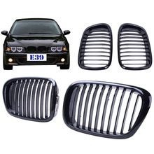 New Gloss Black Kidney Grills Front Grille For BMW E39 525 528 530 535 M5 1997-2003 #9215