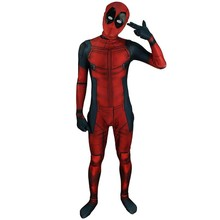 3D Marvel Full Body Spandex Deadpool Costume x men Comics Deadpool Death Costume Lycra Hooded Dead Pool Cosplay Costume Bodysuit(China)