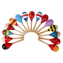 2Pcs Cute Baby Kids Sound Music Gift Toddler Rattle Musical Wooden Colorful Toys Best Gifts For Kids(China)