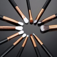 Learnever 12pcs Pro Makeup Brushes Set Foundation Powder Eyeshadow Eyeliner Lip Professional Cosmetic Beauty Makeup Tool M02468