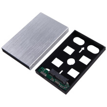 "USB 3.0 External HDD SDD Enclosure 2.5 Inch SATA Hard Disk Drive Aluminum Caddy Case w/ Cable for 2.5"" Serial ATA HDD/SSD"