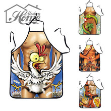 Cooking Apron Funny Novelty BBQ Party Apron Naked Men Women Sexy Rude Cheeky Kitchen Cooking Apron(China)