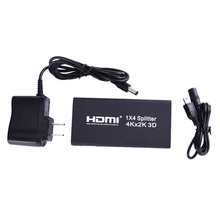 4 port HDMI Splitter switch hdmi switcher 4x1 converter adapter Support audio 4K *2K  3D video High Quality