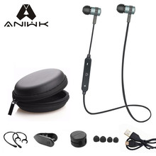 Aniwk Sport Running Bluetooth Headset Wireless Earphone Headphone Bluetooth Earpiece With Mic Stereo Earbuds For all phone(China)