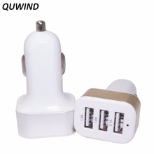 QUWIND 3A 3 USB Ports Universal Quick Charging Car Power Adapter Charger 12-24V