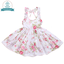 Princess Dress Girls Clothes 2017 Brand Toddler Girls Dresses Kids Clothes vintage Floral Print Girls Christmas Dress Children