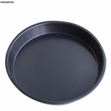 8 Inch Non-stick Pizza Pan Cake Flan Pie Mold High Duty Steel Baking Dish Tray Microwave Oven Cake Pans Bakeware Tools