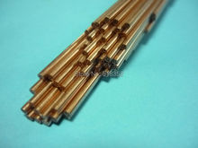 1.4mmx500mm Multihole Ziyang Copper Electrode Tube for EDM Drilling Machines