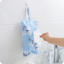 Creative Linen Paper Towel Hanging Bag Pumping Paper Belt Home Cotton Cloth Hanging Bag Pumping Paper Bag Linen Towel Bag(China)