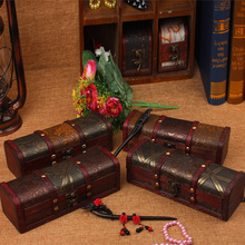 New Classical Box Wooden Box Storage Box Jewelry Case Creative Gifts Craft Props Home Decoration Texture Library bar Retro Boxes(China)