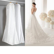 3 Sizes Wedding Dress Bags Clothes Cover Dust Cover Garment Bags Bridal Gown Bag For Mermaid Wedding Dress Cover