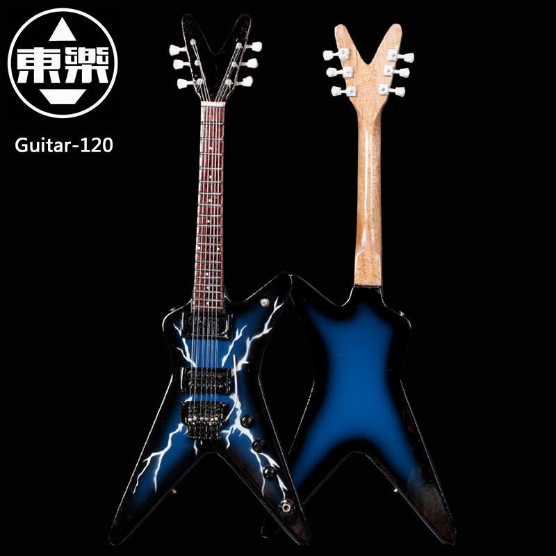 Wooden Handcrafted Miniature Guitar Model guitar-120 Guitar Display with Case and Stand (Not Actual Guitar! for Display Only!)<br>