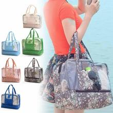 1PC New women's handbag casual beach bag shopping bag for lady  Fashion Outdoor Travel Organizer Make Up Cosmetic Bag Gift 3