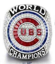 You own Name 2016 Chicago Cubs World Serise Championship Ring Solid With Wooden Display Box Fan Men Gift