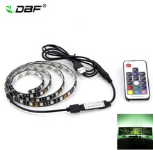 [DBF]USB RGB LED Strip 5050 Flexible Adhesive Tape Multi-color Changing Lighting Kit for Flat Screen HDTV LCD Desktop PC Monitor