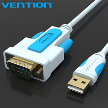 Vention USB2.0 to DB9 RS232 Cable Serial Cable USB COM Port DB9 Pin Cable Adapter for Windows 7 8 10 XP Mac OS X Printer LED POS(China)
