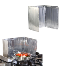 Hot Practical Kitchen Stove Foil Plate Prevent Oil Splash Cooking Baffle Easy Clean Kitchens Accessories HG99(China)