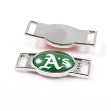 Oakland Athletics MLB Baseball Team Logo Oval Shoelace Charms For Sport Shoes And Paracord Bracelets Jewelry Decoration 6pcs