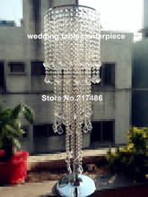 new arrival tall crystal table top chandelier centerpieces for weddings table  decoration