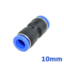 Pneumatic 10mm push to 10mm OD Tube One Touch Straight Connector Fittings Plastic Quick Fitting