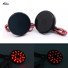 2pcs 5.8CM Black Smoked Lens Round LED Bumper Reflector Tail Brake DRL Light for Toyota Highlander Sequoia Voxy Noah(China)