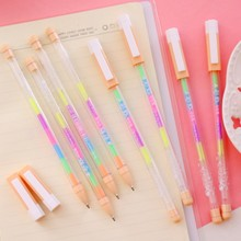 1 x rainbow color album photo gel pen colorful pens decal stationery DIY Handmade write tools for children diary gift card decor(China)