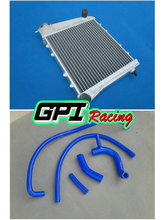 FIT FOR MINI COOPER S 1275 GT 59-89 ALUMINUM RADIATOR&SILICONE HOSE AUSTIN/ROVER BLUE(China)