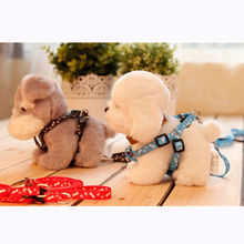 High Quality Small Dog Pet Puppy Cat Adjustable Nylon Harness with Lead leash 5 Colors to Choose free shipping