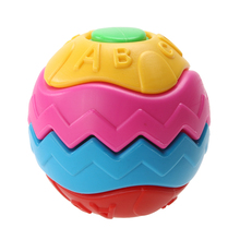 Fun Baby Handwork Assemble Puzzle Ball Toy Plastic Multi-Color Spherical Ball Kids Jigsaw Puzzle Early Educational Toy(China)