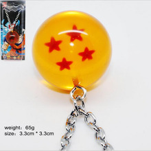 Anime Goku Dragon ball 1 2 3 4 5 6 7 stars dragonball Logo Pendants  necklace Zinc Alloy resin Keyrings Lovely Gift Toys classic