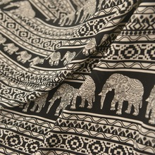Thailand Cotton Silk Rayon Cloth Dress Elephant Scarf Fashion Fabric DIY Pants Mosquito Sarong