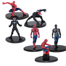 6pcs/Set The Avengers 6-7cm Spiderman figures Spider-man PVC Action Toys for boys collection